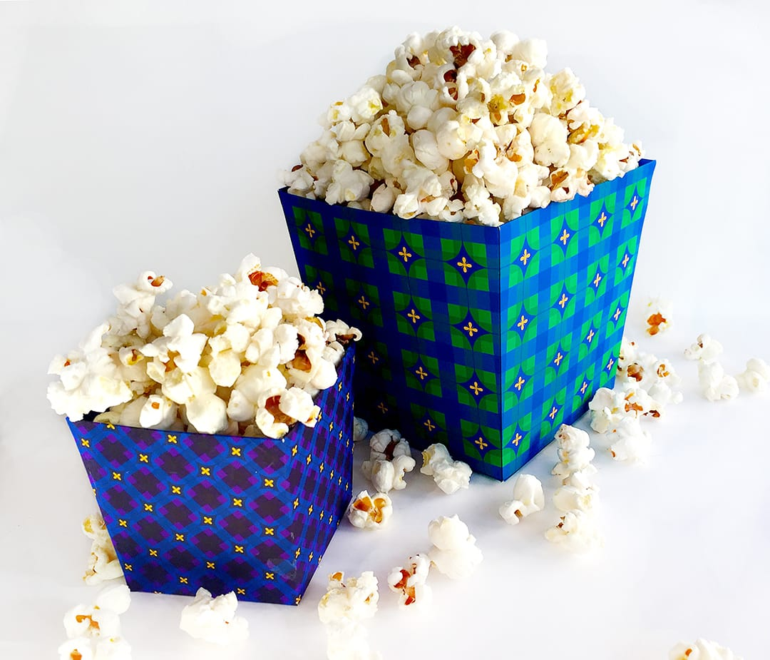 popcorn container template - popcorn boxes in three sizes tutorial template